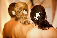 bridesmaid s hair side ponytail with orchids bridesmaid