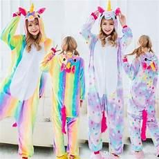 2018 new child rainbow unicorn onesie pyjamas