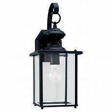 sea gull lighting jamestowne 1 light black outdoor wall fixture 8458 12 the home depot
