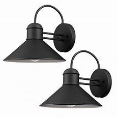 globe electric sebastien 1 light black outdoor wall lantern sconce 2 pack 44165 the home depot