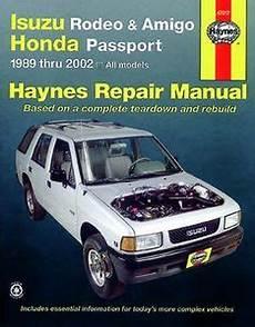 manual repair autos 2000 isuzu amigo head up display haynes repair manual for isuzu rodeo amigo honda passport 1989 2002 hay47017