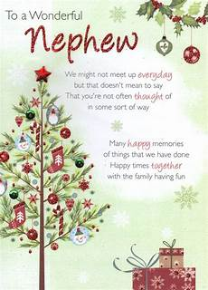 to a wonderful nephew christmas greeting card traditional cards lovely verse ebay