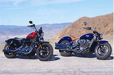 Harley Davidson Indian Motorcycle by Harley Davidson Forty Eight Special Vs Indian Scout 2019