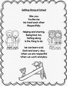 writing poetry worksheets middle school 25325 getting along at school poem and writing activities poems about school poems preschool