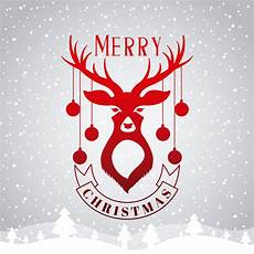 merry christmas card with deer and ornaments download free vectors clipart graphics vector art