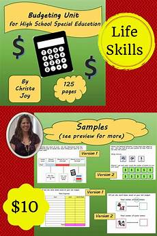 saving money worksheets for highschool students 2184 budgeting unit for high school special education special education teaching skills