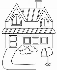 house coloring pages 17594 house coloring page stock illustration illustration of characters 50165750