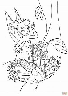 tinkerbell is trying to cook coloring page free