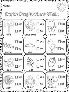 nature printable worksheets for preschool 15119 earth day nature scavenger hunts and ideas