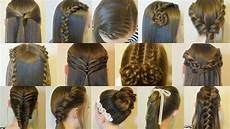 Easy Hairstyles With Pictures 14 easy hairstyles for school compilation 2 weeks of