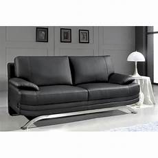 Deco In Canape Cuir Noir 2 Places Romeo Can Romeo