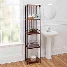 free standing bathroom storage ideas oaks bathroom collection 5 tier linen shelf