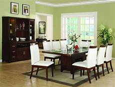 beautiful green paint colors for dining room with brown table and white chairs dream farm in
