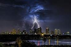 ta florida usa city cityscape lightning clouds storm nature wallpapers hd