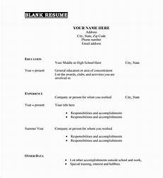 25 blank basic resume template in 2020 downloadable