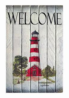 coastal wall art assateague island lighthouse nautical