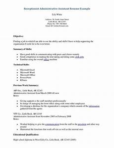 resume objective exles for administrative assistant administrative assistant resume office