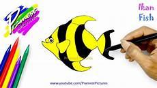 Ikan Cara Menggambar Dan Mewarnai Gambar Hewan Untuk
