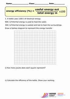aqa p1 sankey diagrams worksheet by wondercaliban