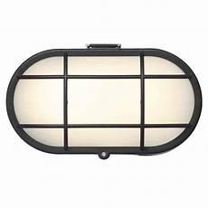 stanley vasman ip44 led bulkhead wall light black litecraft