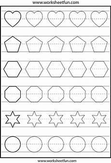 pattern tracing worksheets for kindergarten pdf shape tracing 1 worksheet free printable worksheets worksheetfun