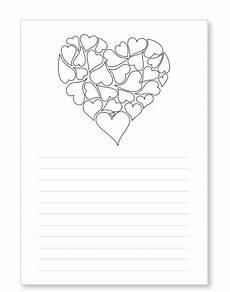 Malvorlagen Valentinstag Schreiben Briefpapier Liebesbrief Herzen Kostenlos Ausdrucken