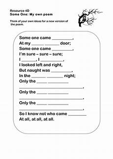 poetry worksheets year 1 25381 some one poetry worksheet ks2 by ks2history teaching resources tes
