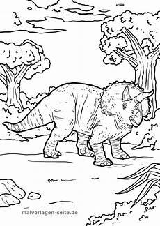 Malvorlage Dinosaurier Kostenlos Malvorlage Triceratops Dinosaurier Kostenlose Ausmalbilder