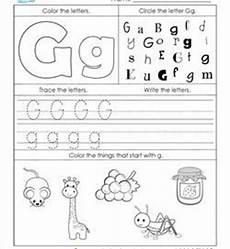 worksheets letter g kindergarten 24214 alphabet worksheets letter worksheets for kindergarten
