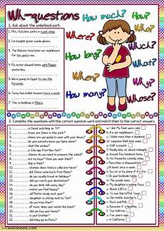 wh questions practice question words worksheet