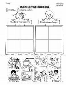 traditions worksheets 15587 this thanksgiving worksheet has student sort pictures of past and present thanksgiving a fr