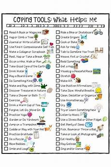 stress management coping skills for kids checklist a