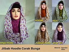 Jilbab Hoodie Terbaru 2013 Corak Bunga Butik Hanun