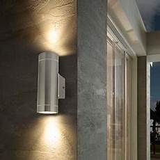 stainless steel double outdoor wall light ip65 up down outdoor wall light amazon co uk