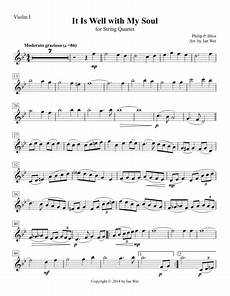 download it is well with my soul for string quartet sheet