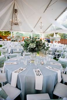 light blue and white outdoor reception decor elizabeth designs the wedding blog