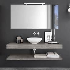 mensole per il bagno piano sospeso mensola bagno da 140 cm color grigio