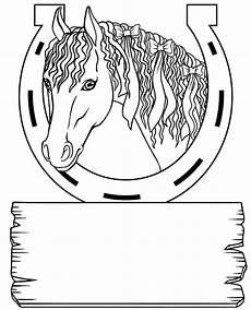 pferdekopf mit hufeisen ausmalbilder
