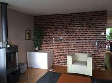 Wohnzimmer Mit Backstein Optik Steinwand