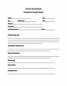 occupational therapy school system evaluation template tpt