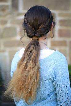 braid flip combo hairstyle cute girls hairstyles