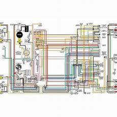 chevy color laminated wiring diagram 1958 1974 eckler s late great chevy