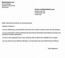 lettre de demande d ouverture d un compte courant banque