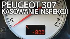 kasowanie inspekcji serwisowej w peugeot 307 reset przegląd okresowy