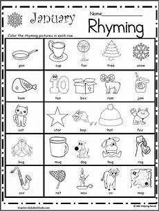 rhyming worksheet for january madebyteachers