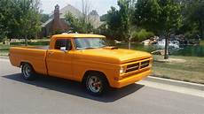 ford f100 custom show truck chopped orange f100 muscle truck