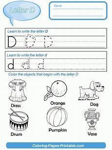 letter writing practice for kindergarten coloring pages