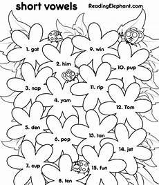 worksheet for vowels for kindergarten short vowel worksheets for kindergarten flowers pdf reading elephant