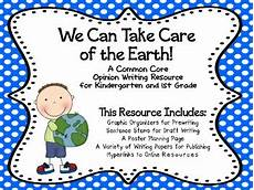 taking care of the earth worksheets 14434 earth day recycling kindergarten grade opinion writing project