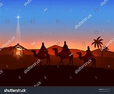 christian christmas background with three wise men and